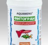 Корм Аква Меню Фитогран гранулированный ежедневный корм с растительными добавками, 250 мл (90г)