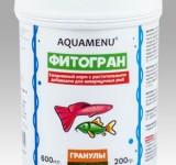 Корм Аква Меню Фитогран гранулированный ежедневный корм с растительными добавками, 600 мл (200г)