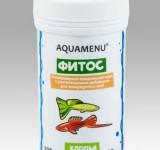 Корм Аква Меню Фитос - хлопьевидный ежедневный корм с растительными добавками для рыб, 100 мл (20г)