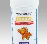 Корм Аква Меню Голди в хлопьях для всех разновидностей золотых рыбок, 100 мл (20г)