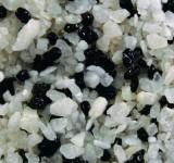 Грунт Кварц черно-белый Гавайи 2-4 мм 1кг