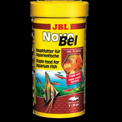 Корм для рыб JBL NovoBel хлопья для всех аквариумных рыб, 5.5 л (950 г)