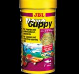 Корм JBL NovoGuppy хлопья для гуппи и других живородящих рыб, 100 мл (21г)