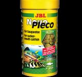 Корм JBL NovoPleco Водорослевые чипсы с древесиной для кольчужных сомов, 100 мл (53г)