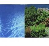 Фон Prime двухсторонний Синее море/Растительный пейзаж 50х100см