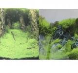 Фон Prime двухсторонний Затопленный лес/Камни с растениями 30х60см