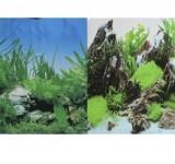 Фон Prime двухсторонний Растительный/Скалы с растениями 30х60см