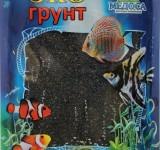 Песок цветной черный (блестящий) 0,5-1 мм 1 кг