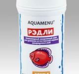 Корм Аква Меню Рэдли - хлопьевидный ежедневный корм для усиления естественной окраски рыб, 100 мл (20 г)