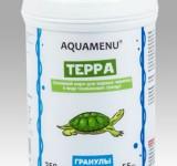 Корм Аква Меню Терра основной корм для водных черепах в виде плавающих гранул, 250 мл (55г)