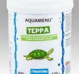 Корм Аква Меню Терра основной корм для водных черепах в виде плавающих гранул, 600 мл (120г)
