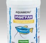Корм Аква Меню Унигран гранулы для ежедневного кормления большинства видов аквариумных рыб, 250 мл (90г)