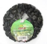 Галька полированная черная 0,8-1,5 см (1 кг)