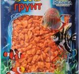Мраморная крошка оранжевая (блестящая) 5-10 мм 3,5 кг