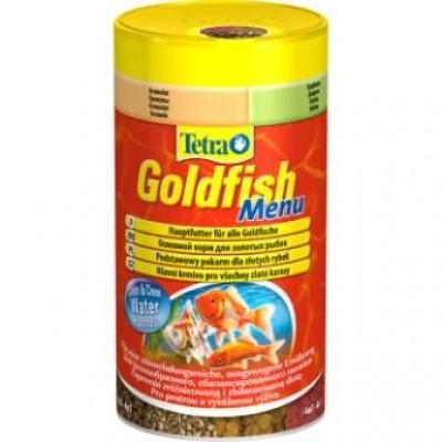 Корм для рыб Tetra Goldfish Menu (4 корма в одном) 250 мл