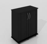 Тумба Zelaqua 100л (710х360х730) чёрная