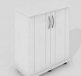 Тумба Zelaqua 60л (610х260х730) белый